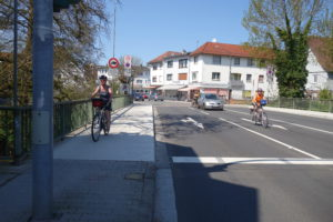 Fahrbahnnutzung für Radverkehr lässt Radfahrende sichtbar und dadurch sicher sein