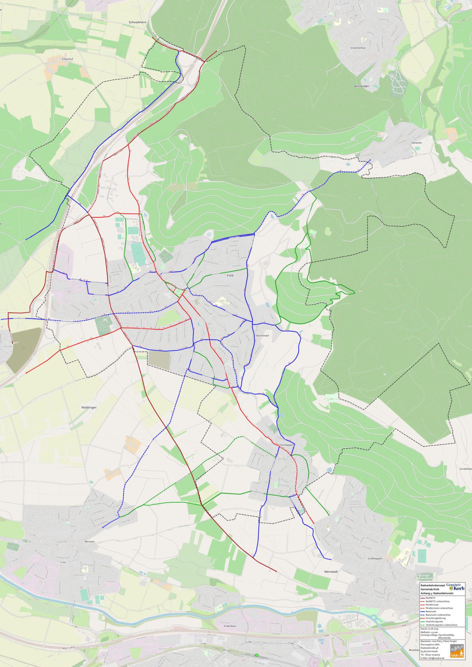 Radverkehrsnetz Korb