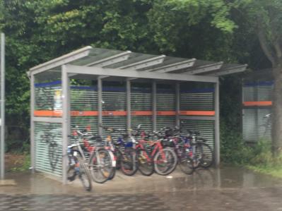 Sicheres fahrradparken am Bahnhof Büdingen