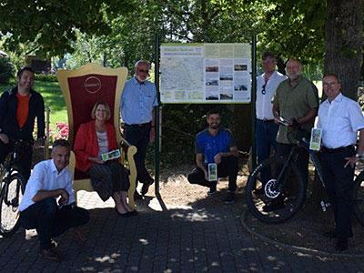Eröffnung der Mittelalterradroute, geplant von VAR+